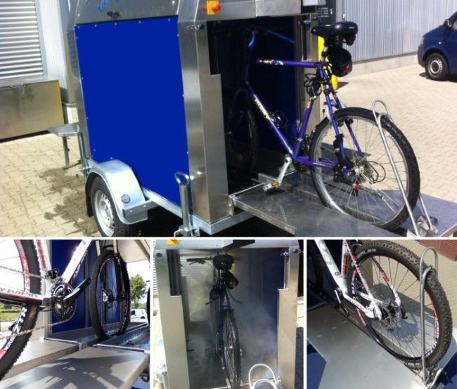 Exercise Bike That Washes Clothes: Cycling Event Bike Wash Facilities Needed?